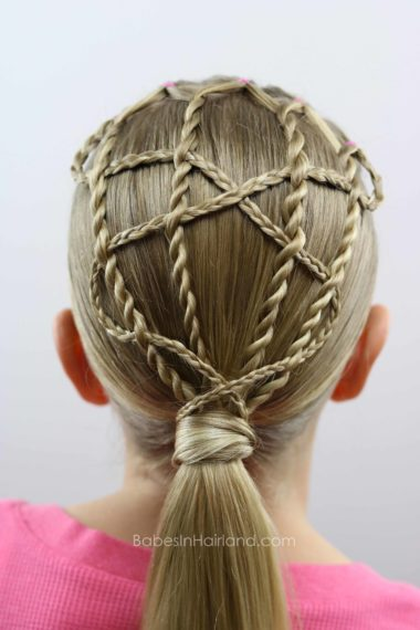 Create a cute & intricate hairstyle with just a few braids and rope twists. Twists & Winding Braids Style from BabesInHairland.com