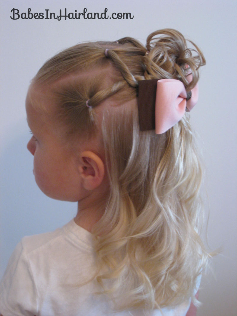 Christmas Hairstyles For Kids.Combo Flower Girl Hairstyle Babes In Hairland