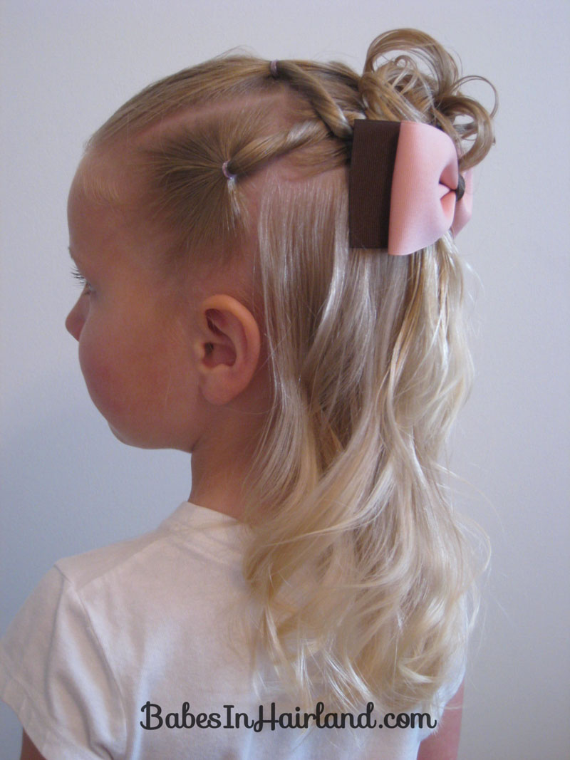 Awe Inspiring Combo Flower Girl Hairstyle Babes In Hairland Hairstyle Inspiration Daily Dogsangcom