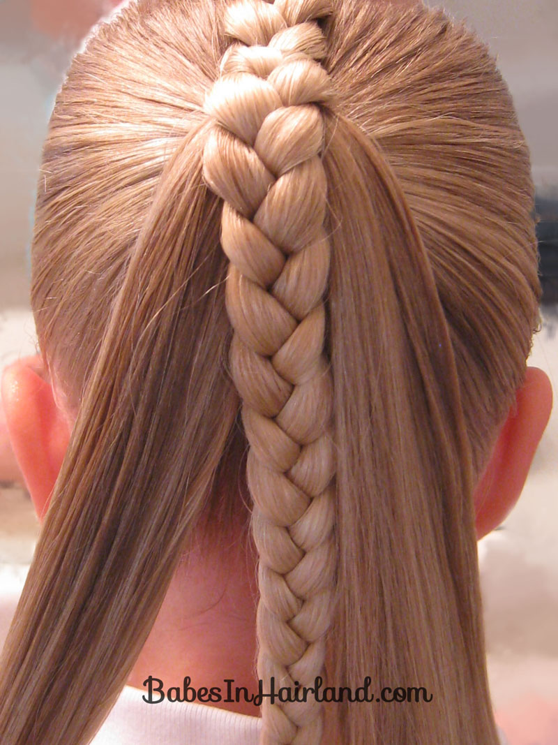 Magnificent French Braid Into A Braided Ponytail Babes In Hairland Short Hairstyles For Black Women Fulllsitofus