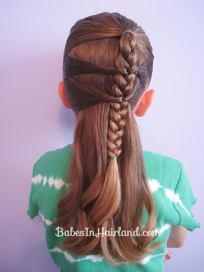Side Braid And A Topsy Tail Twist Babes In Hairland