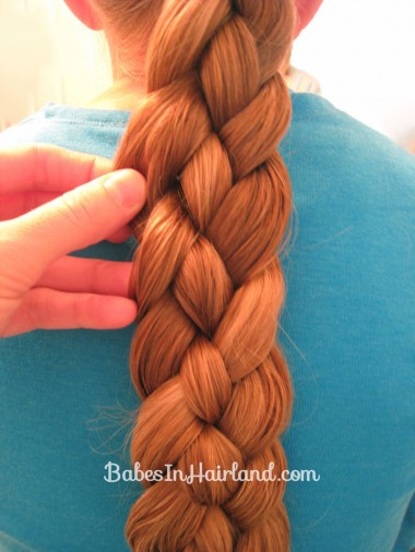 Rolled Up 4 Strand Braid Bun (2)