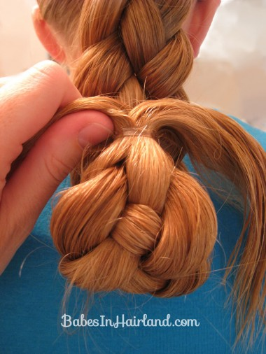 Rolled Up 4 Strand Braid Bun (3)