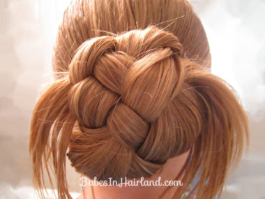 Rolled Up 4 Strand Braid Bun (4)