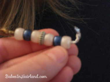 How to add beads to the ends of braids (12)