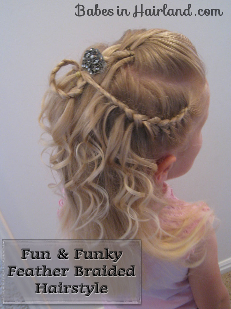Cascade Feathered Braid Hairstyle Babes In Hairland