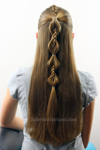 Peek A Boo French Braid Hairstyle For Teens Tweens And