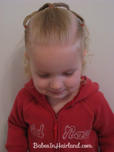 Baby Hairstyle - Twist Braids and Pull Throughs (2)