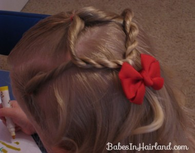 Baby Hairstyle - Twist Braids and Pull Throughs (8)