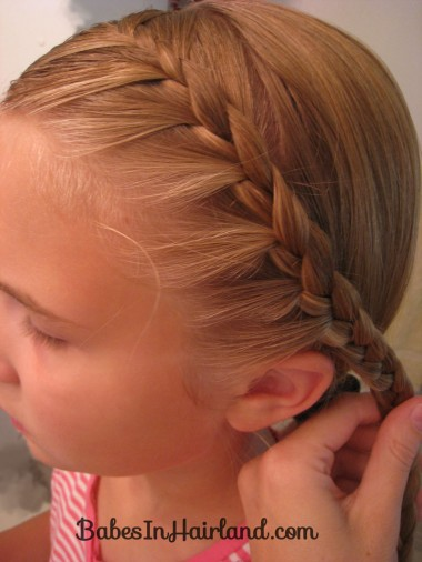 Half French Braid into a Fishbone Braid (2)