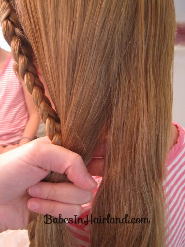 Half French Braid into a Fishbone Braid (4)