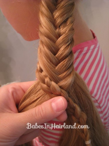 Half French Braid into a Fishbone Braid (8)