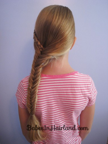Half French Braid into a Fishbone Braid (9)