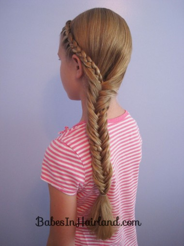Half French Braid into a Fishbone Braid (10)