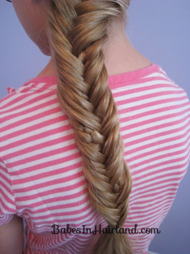 Half French Braid into a Fishbone Braid (11)