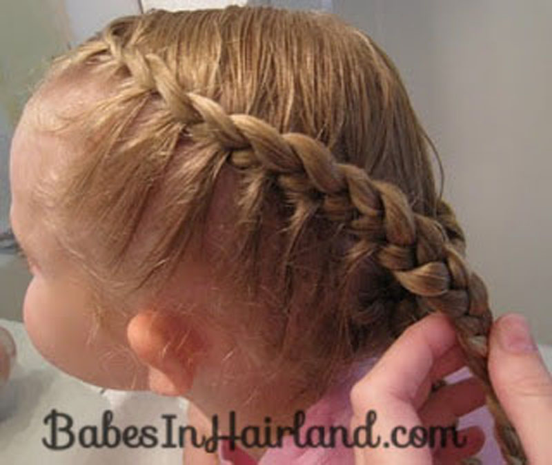 Half French Braided Crown 2 Babes In Hairland