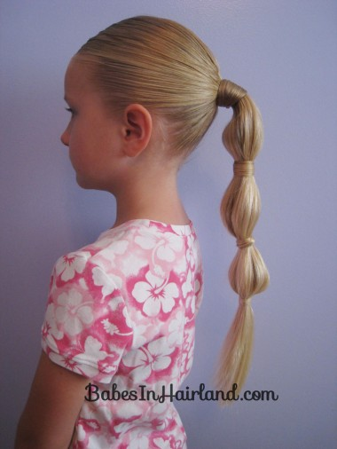 Hair Wrapped Bubble Ponytail (