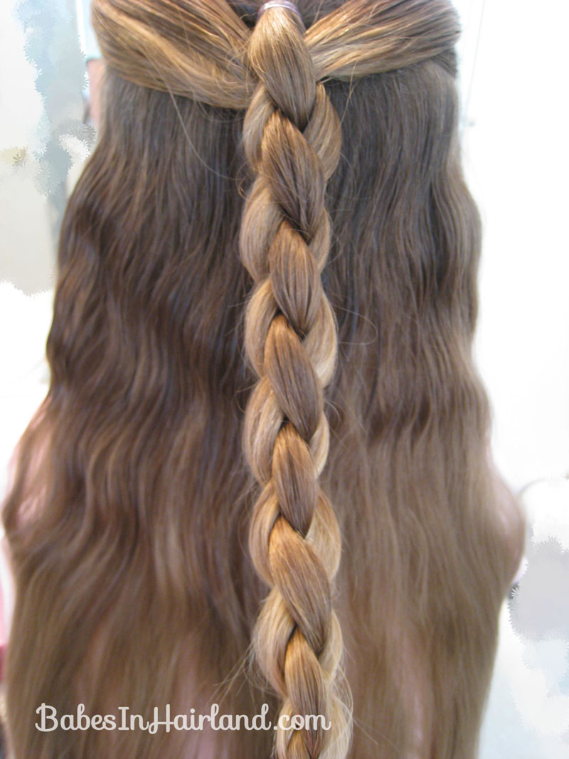 friends hairstyles : Braid the hair most of the way down in a 4 strand braid & tie off at ...