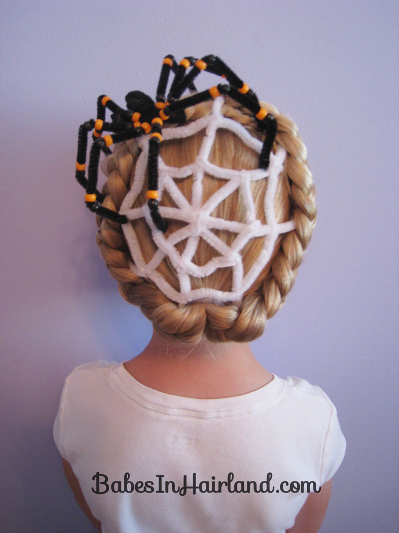 Spiderweb Hairstyle For Halloween Babes In Hairland