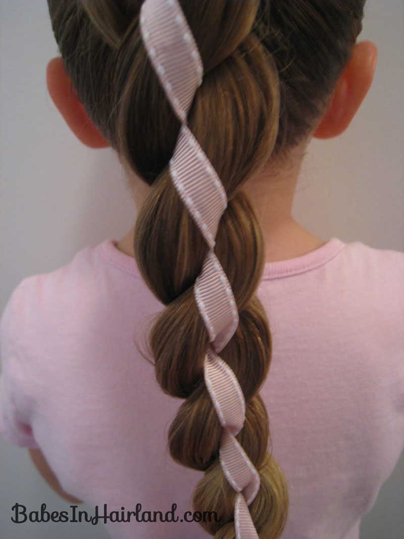 Marvelous 4 Strand Braid With Ribbon In It 2 Babes In Hairland Short Hairstyles For Black Women Fulllsitofus