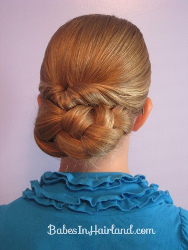 Easy Rolled Braid Updo Babes In Hairland