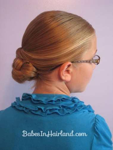Easy Rolled Braid Updo (12)