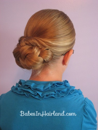 Easy Rolled Braid Updo (1)