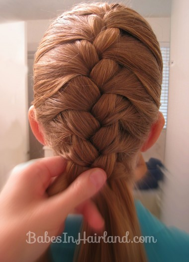 French Braid and Fishbone Bun from BabesInHairland.com (2)