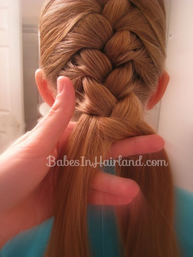 French Braid and Fishbone Bun from BabesInHairland.com (3)