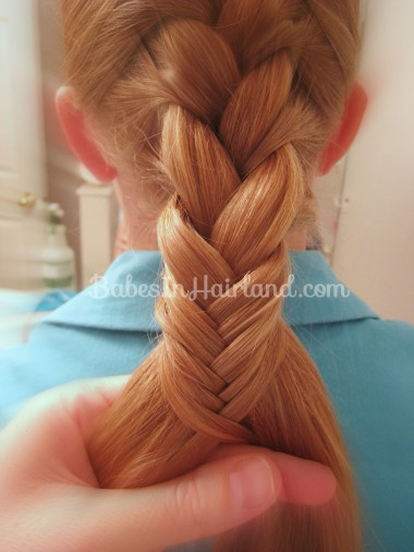 French Braid and Fishbone Bun from BabesInHairland.com (4)