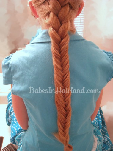 French Braid and Fishbone Bun from BabesInHairland.com (5)