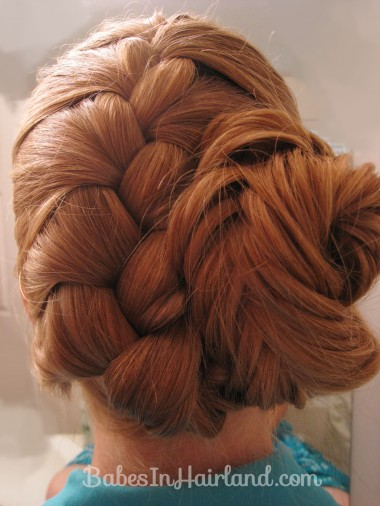 French Braid and Fishbone Bun from BabesInHairland.com (6)
