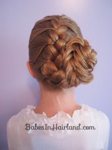 French Braid and Fishbone Bun from BabesInHairland.com (7)