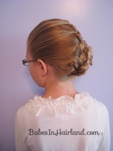 French Braid and Fishbone Bun from BabesInHairland.com (8)