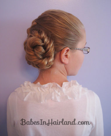 French Braid and Fishbone Bun from BabesInHairland.com (9)