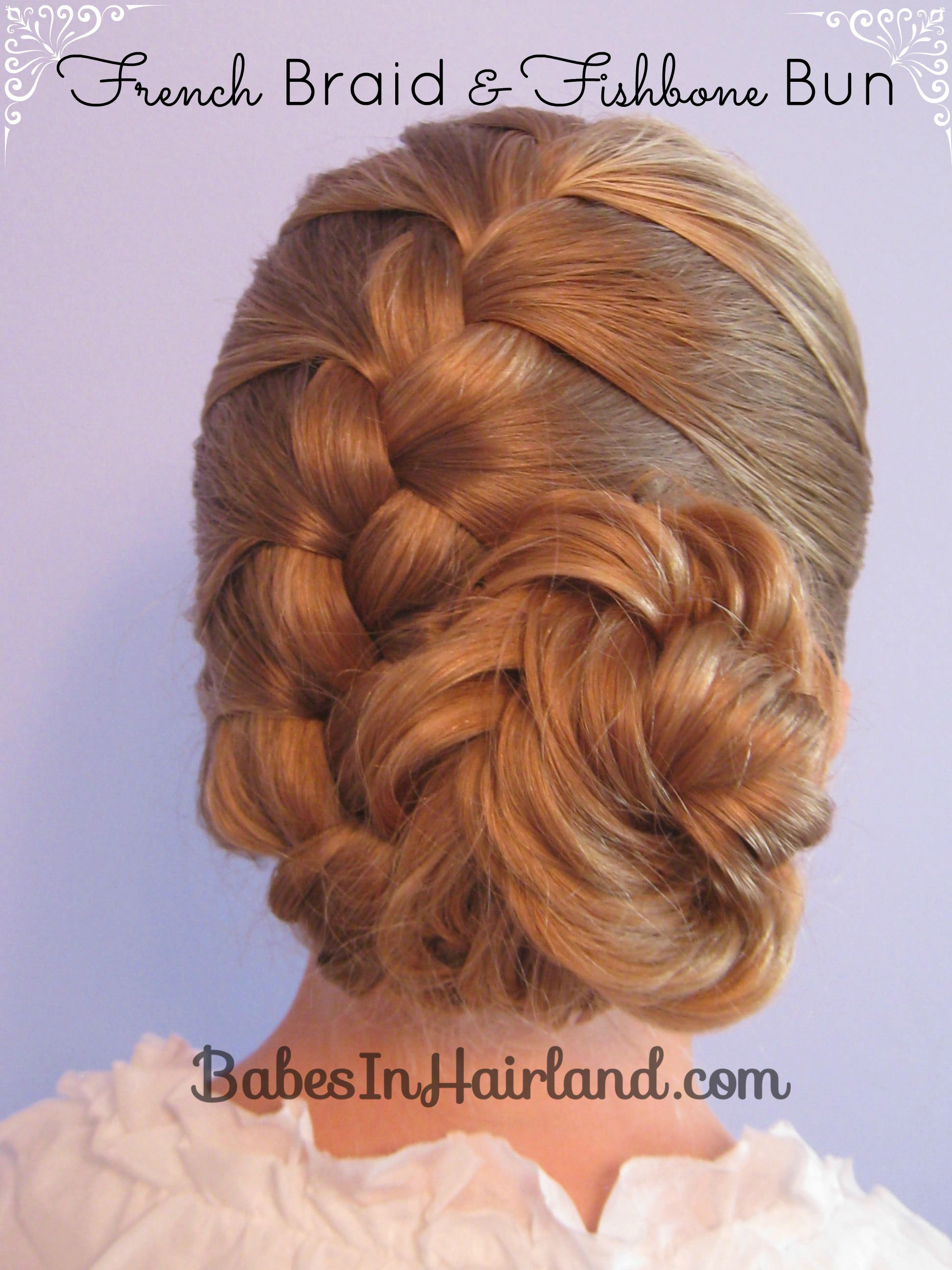 French Braid and Fishbone Bun from BabesInHairland.com (1)