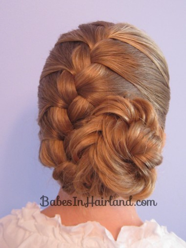 French Braid and Fishbone Bun from BabesInHairland.com (10)