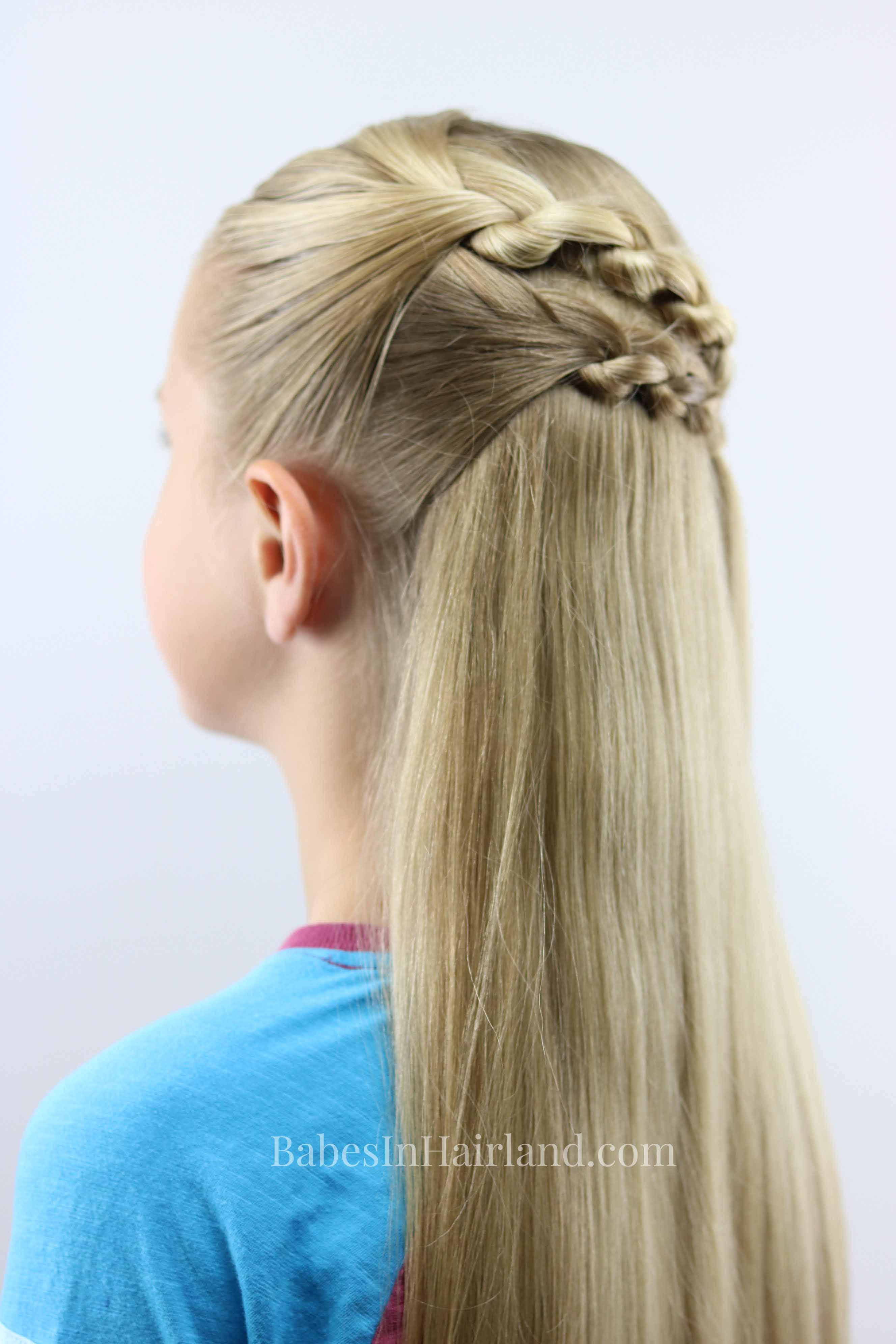 3 Strand Knot Braid Hairstyle   Is it a Braid or is it Knots?