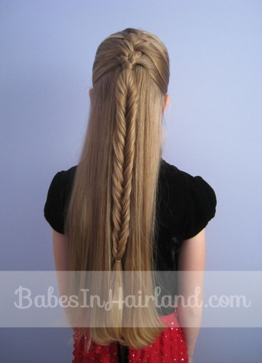 French Braid into a Fishbone Braid from BabesInHairland.com (5)