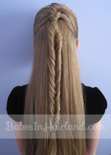 French Braid into a Fishbone Braid from BabesInHairland.com (9)