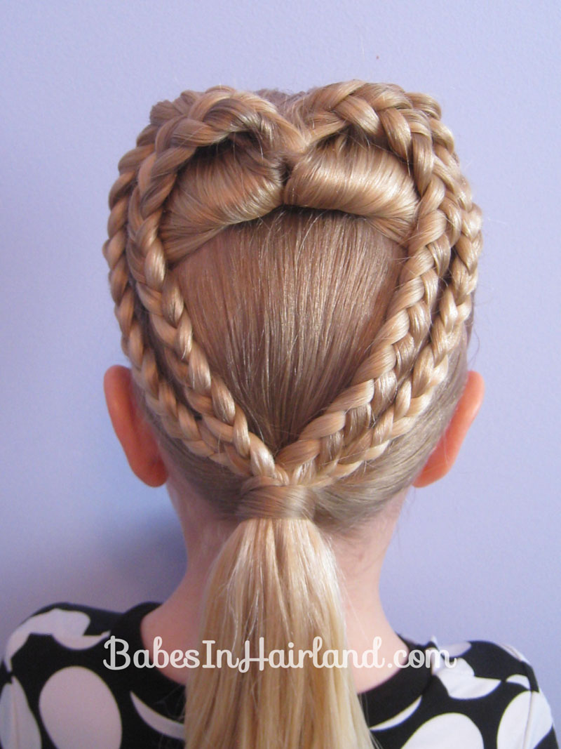 Miraculous 2 Braided Hearts Valentine39S Day Hairstyle Babes In Hairland Hairstyles For Men Maxibearus
