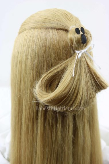 "Have ""spook-tacular"" hair this Halloween with this cute Ghost Ponytail Hairstyle from BabesInHairland.com #hair #hairstyle #halloween #ghost #ponytail #costume"