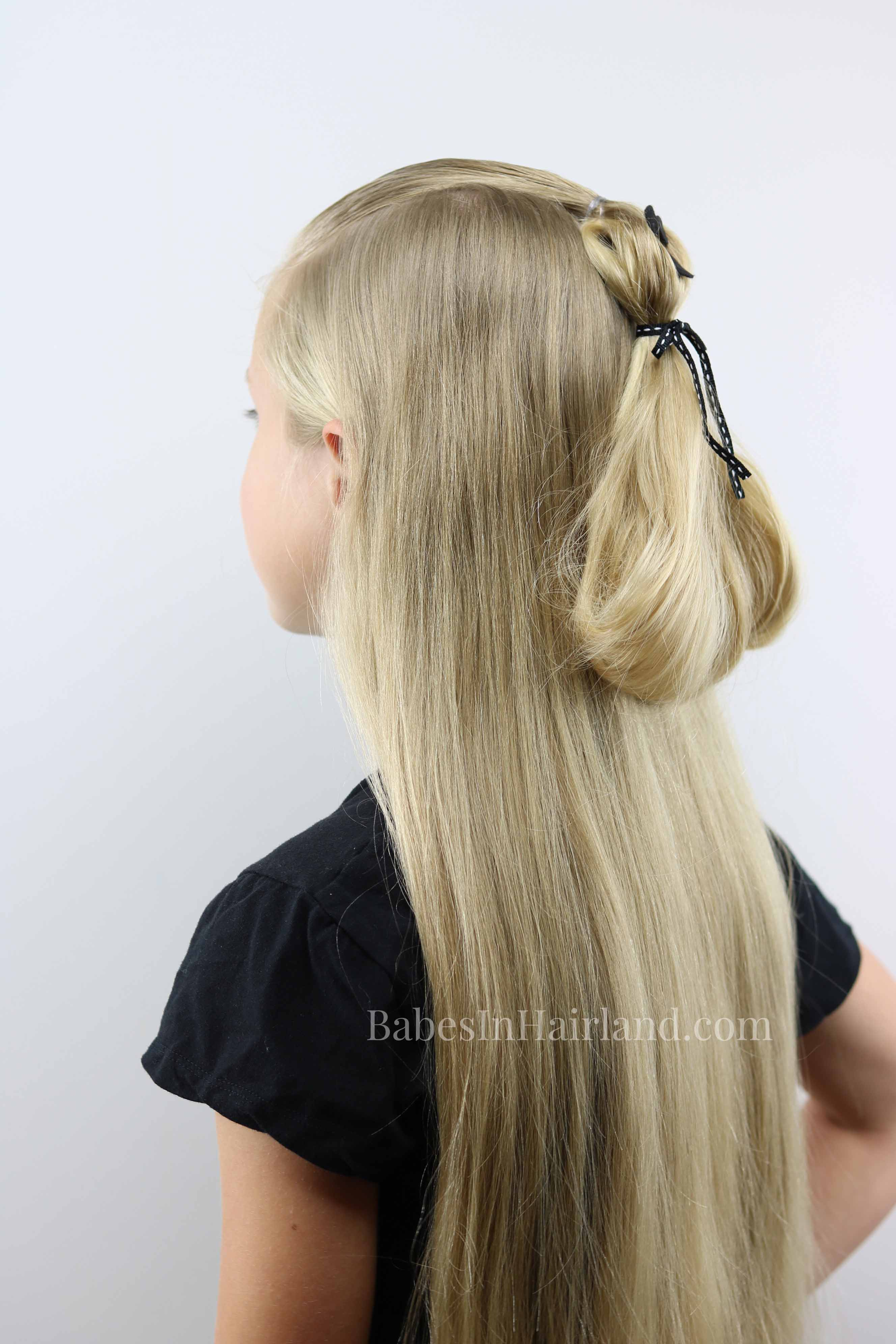 Ghost Ponytail Halloween Hairstyle Make Your Hair Spooky Too