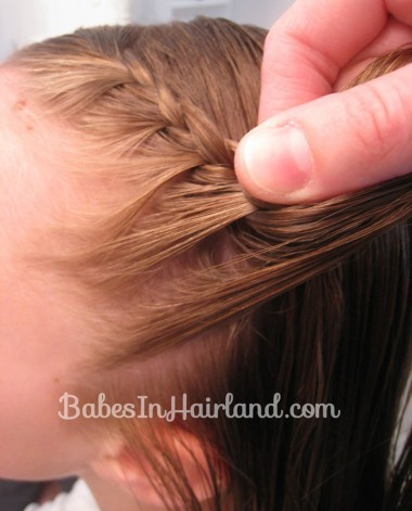 Half French Braid Hairstyle - BabesInHairland.com (4)