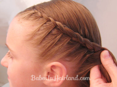 Half French Braid Hairstyle - BabesInHairland.com (7)