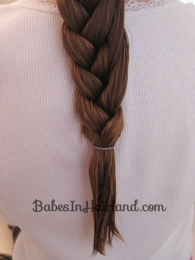 Half French Braid Hairstyle - BabesInHairland.com (10)