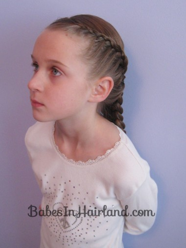 Half French Braid Hairstyle - BabesInHairland.com (11)