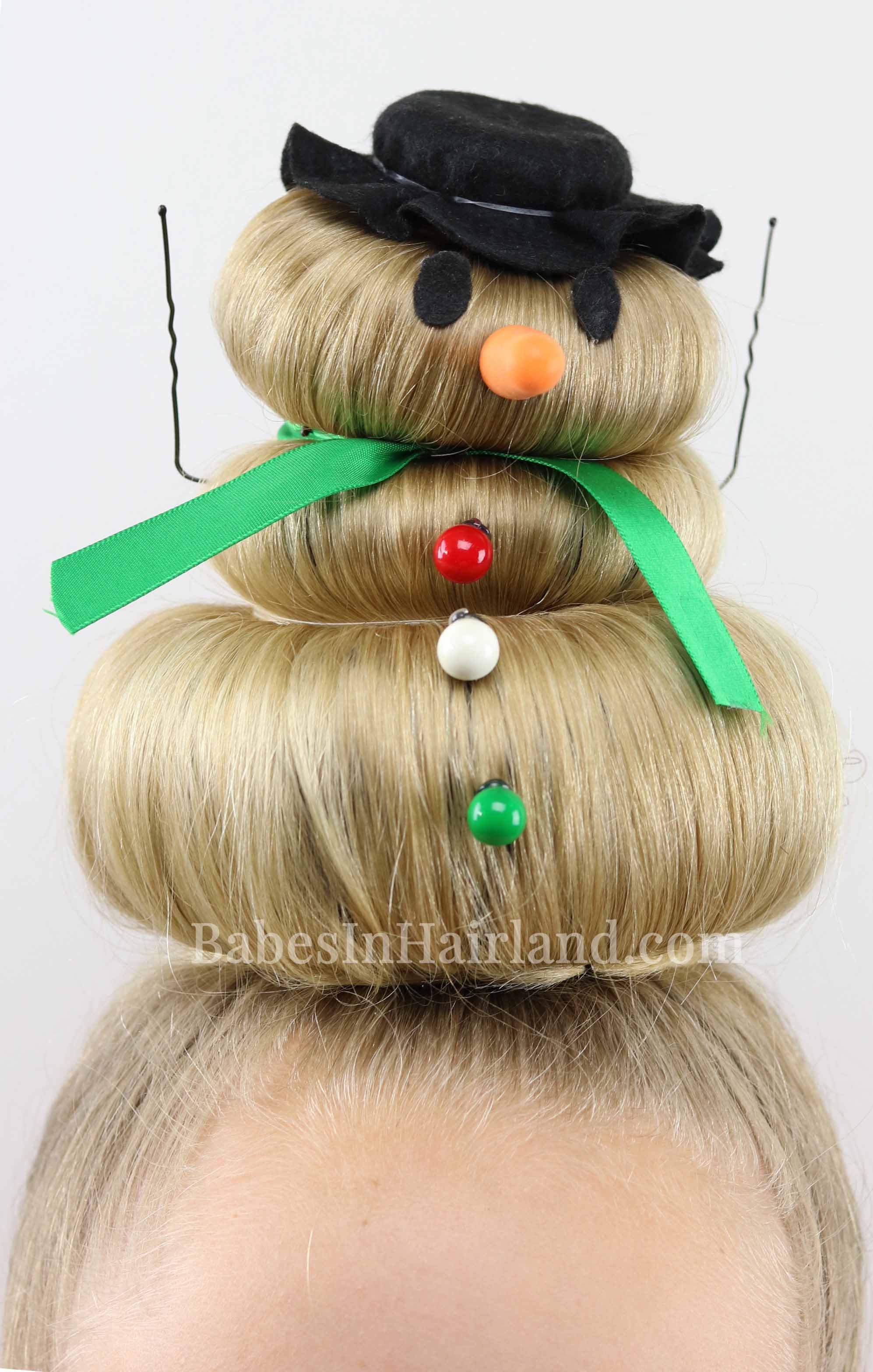 Take Crazy Hair Day Seriously Go All Out With This Cute Silly Snowman Hairstyle Dress Him