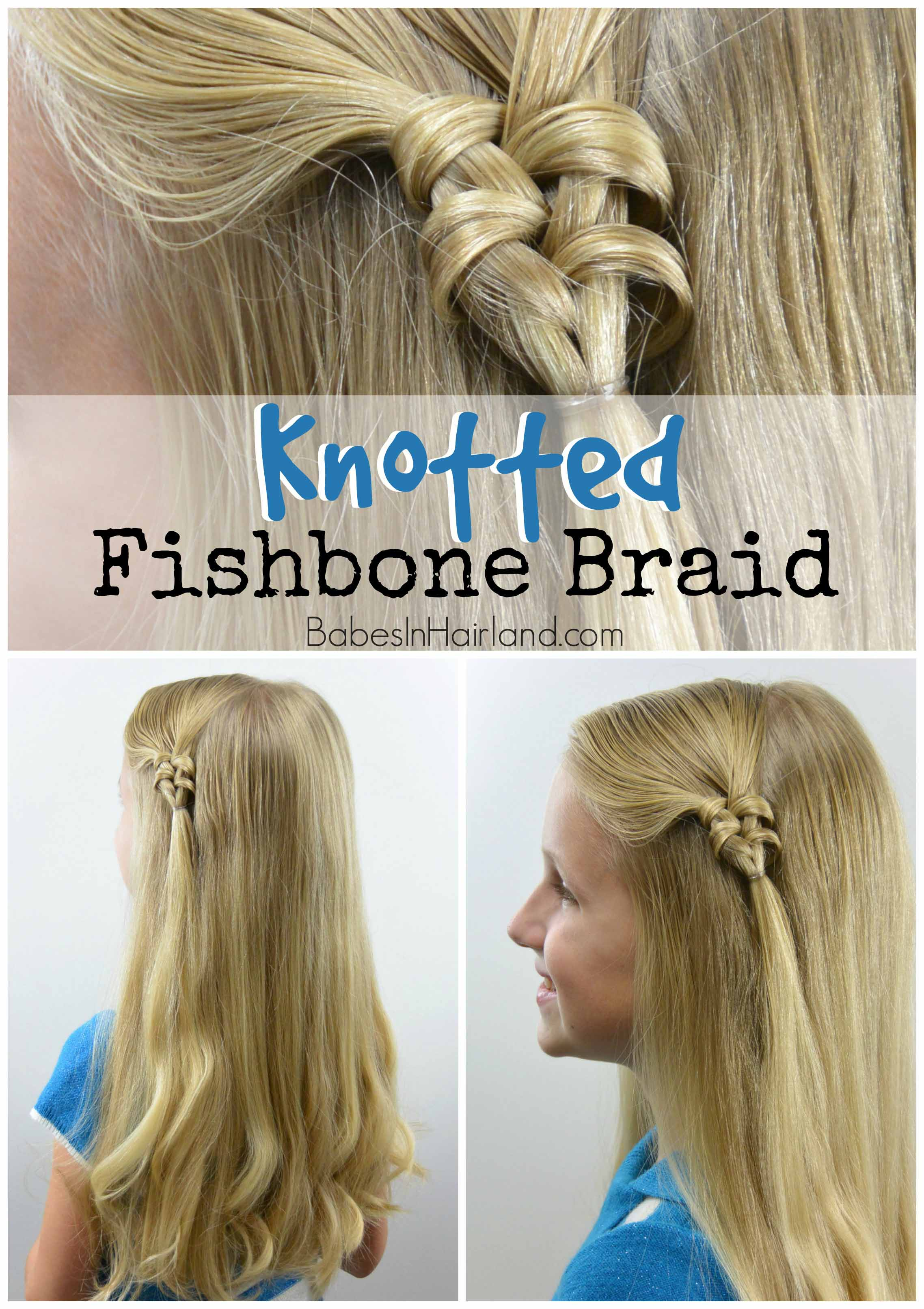 Surprising Knotted Fishbone Braid Babes In Hairland Hairstyles For Men Maxibearus