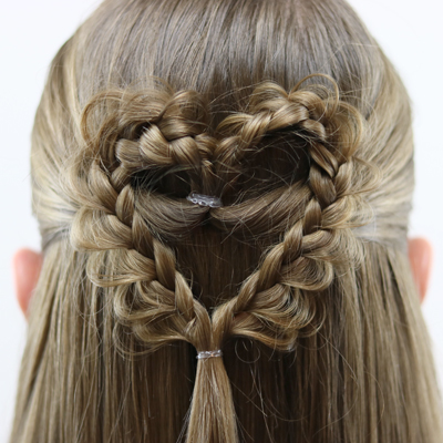 Braided Doily Heart | Valentine's Day Hairstyle